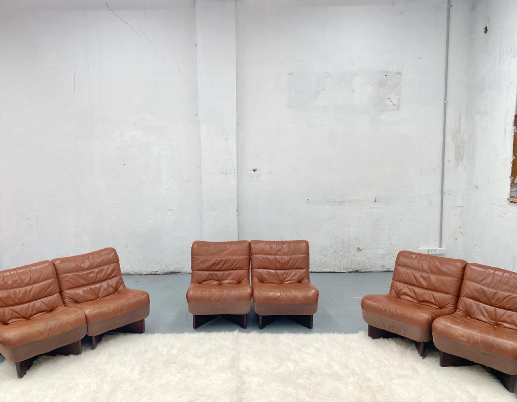 Vintage Modular Sofa - Six Piece Set