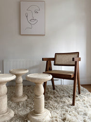 Marble Stool - One Left