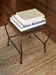 Vintage Wicker Side Table