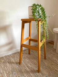 Wooden Cane Stool
