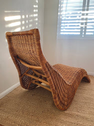 Cane Lounger Chair