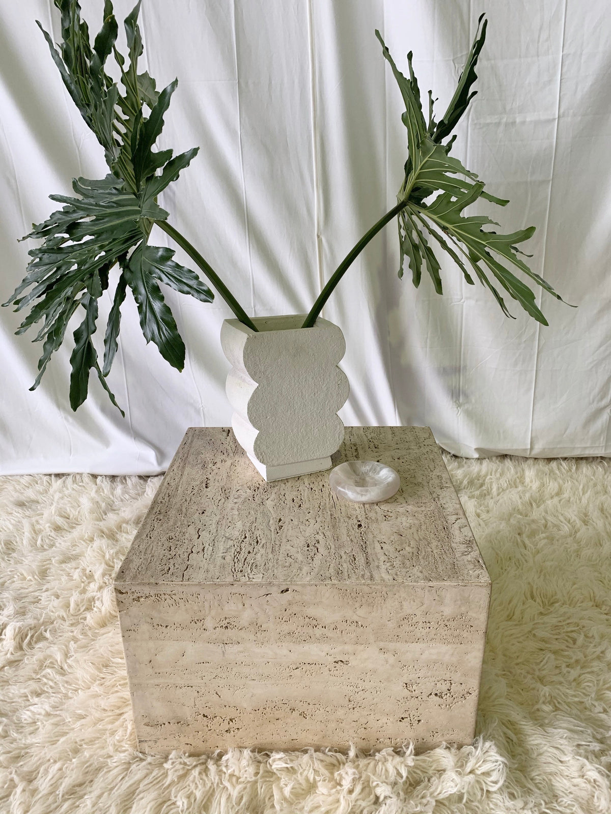 Travertine Cube Coffee Table