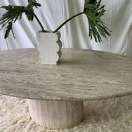 Incredible Travertine Oval Dining Table