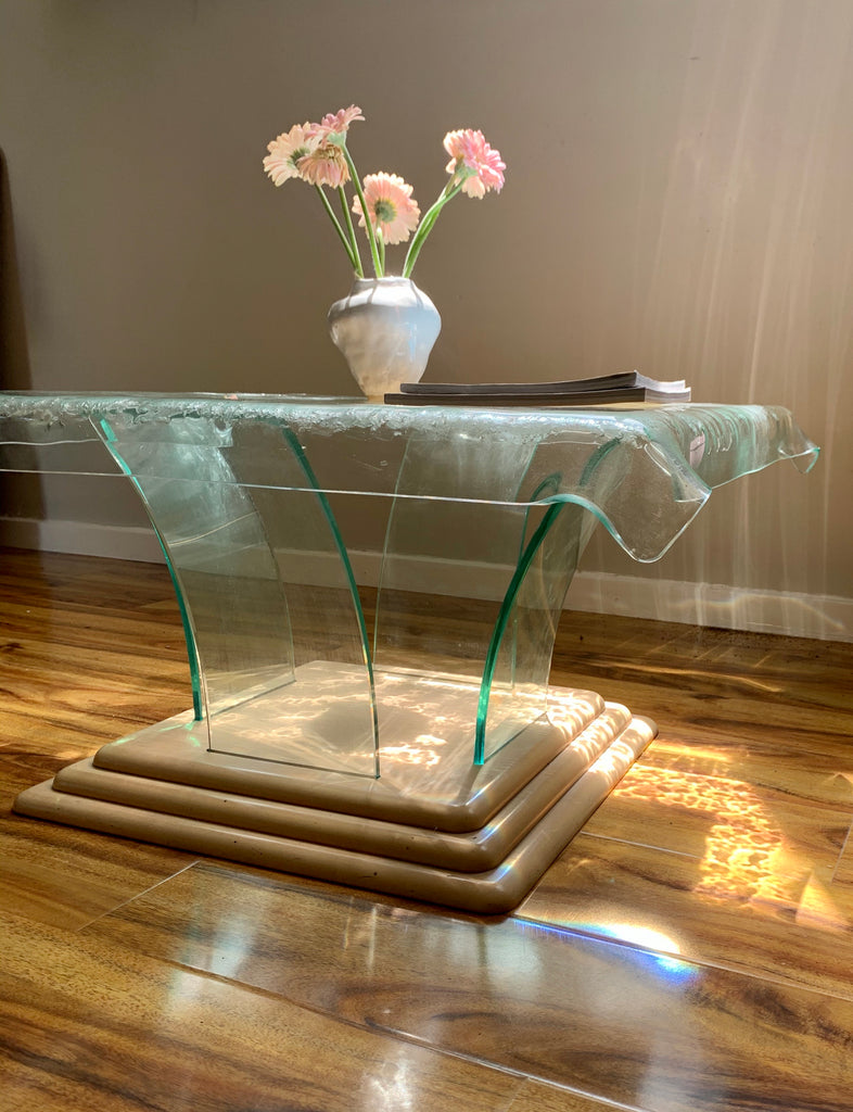 Vintage Glass Side Table