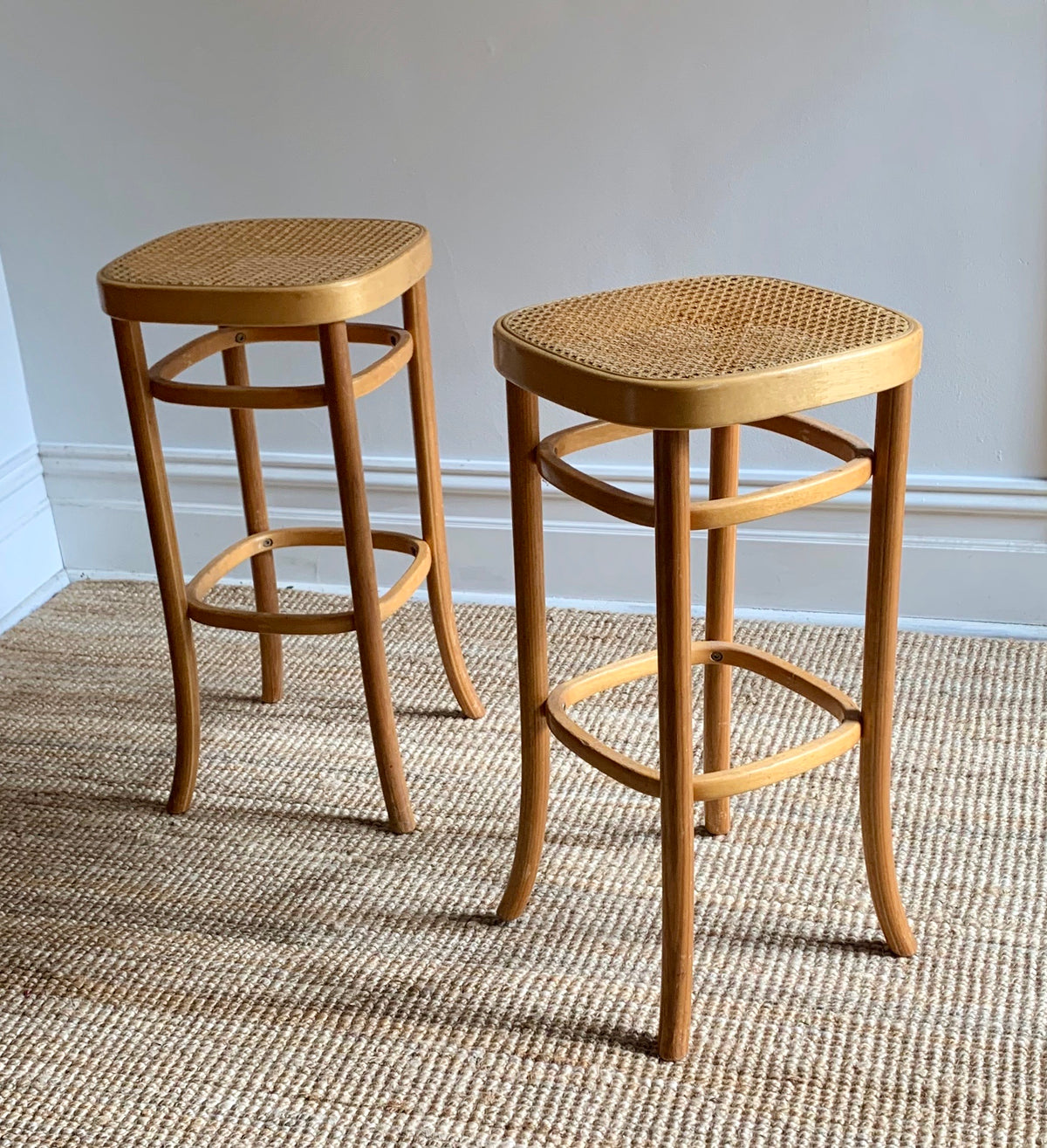 Bentwood Rattan Stool / Stand