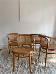 Set of Four Original Bentwood Carver Chairs