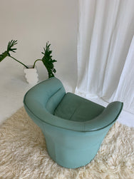 Italian Spearmint Leather Armchair