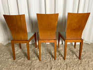 Italian Dining Chairs in European Ash (Set of 6)