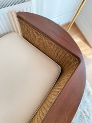 Curved Rattan Lounge