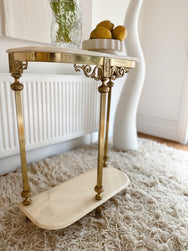 Antique Marble and Brass Console