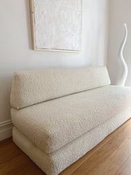 Large Boucle Modular Sofa / Day Bed