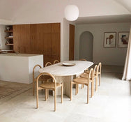 Extra Large Italian Travertine Dining Table