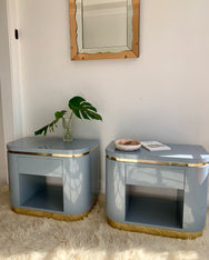 Lovely Lilac Art Deco Bedside Cabinets