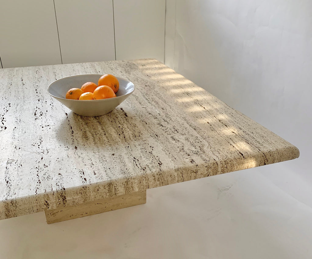 Large Unfilled Travertine Coffee Table