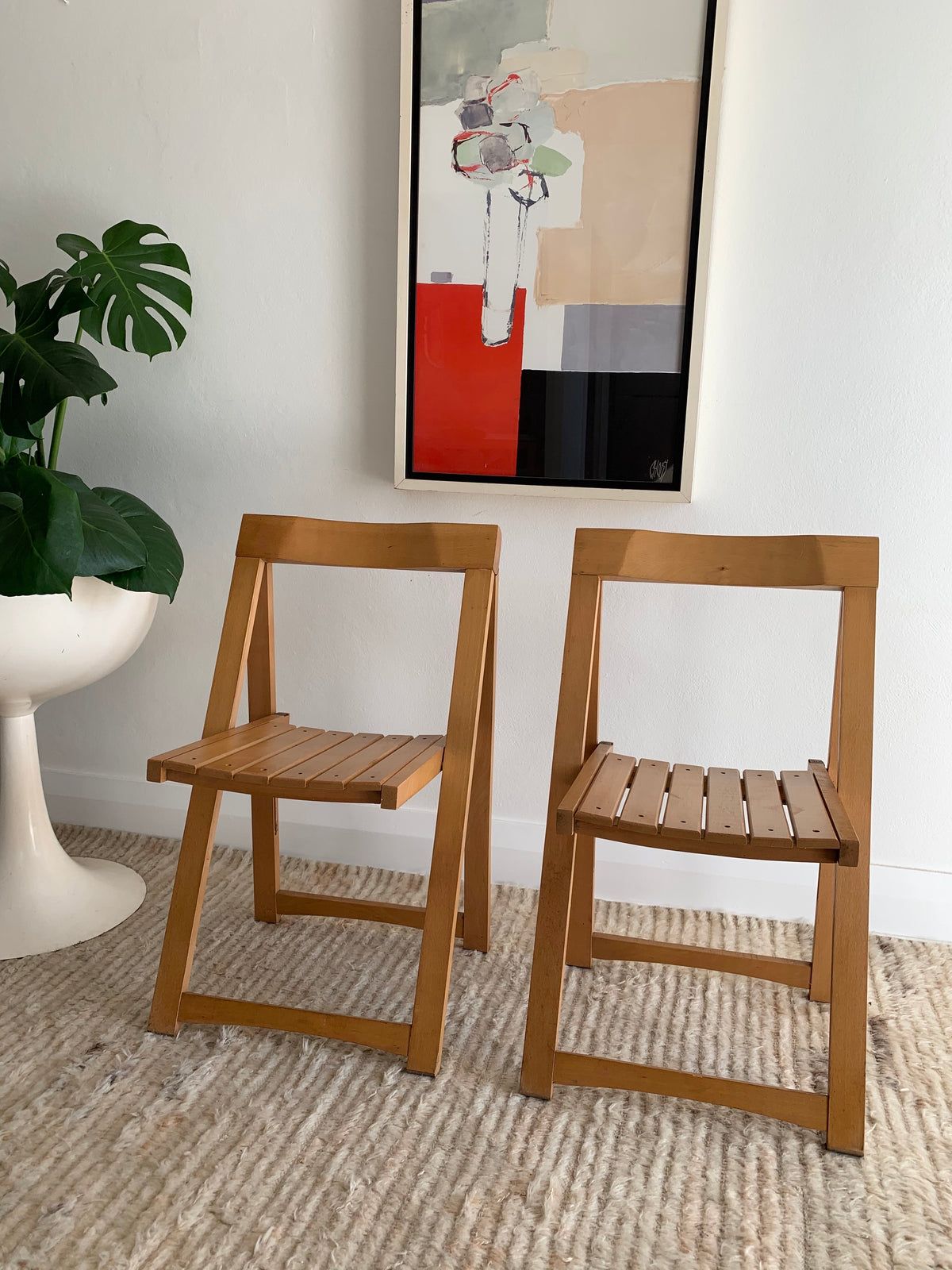 "Original 1960's Aldo Jacober and Pierangela d'Aniello ""Trieste"" Folding Chairs for Bazzani"