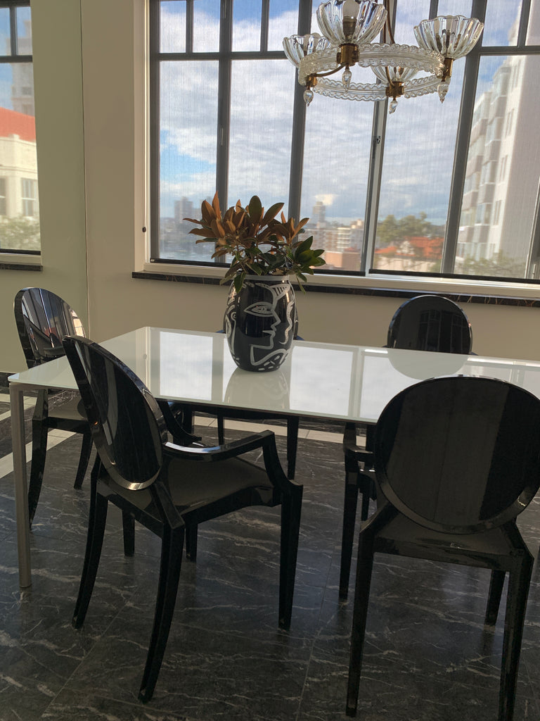 Six Original Kartell Louis Ghost Chairs