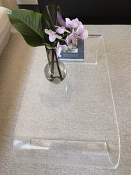 Lucite curved coffee table