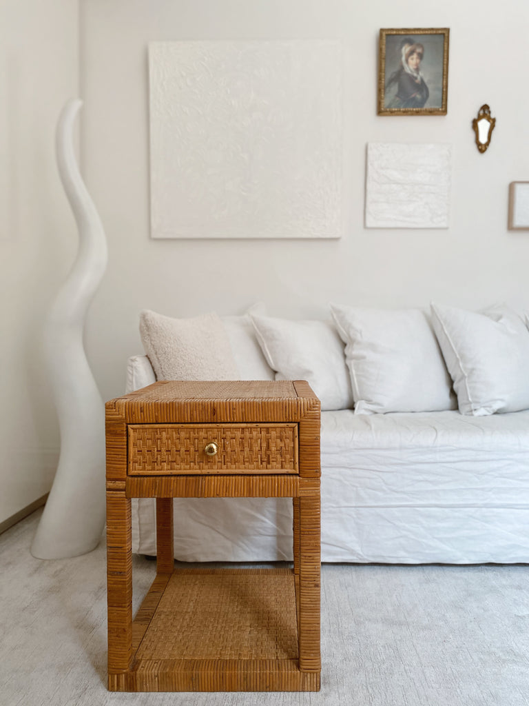 Gorgeous Cane Side Table