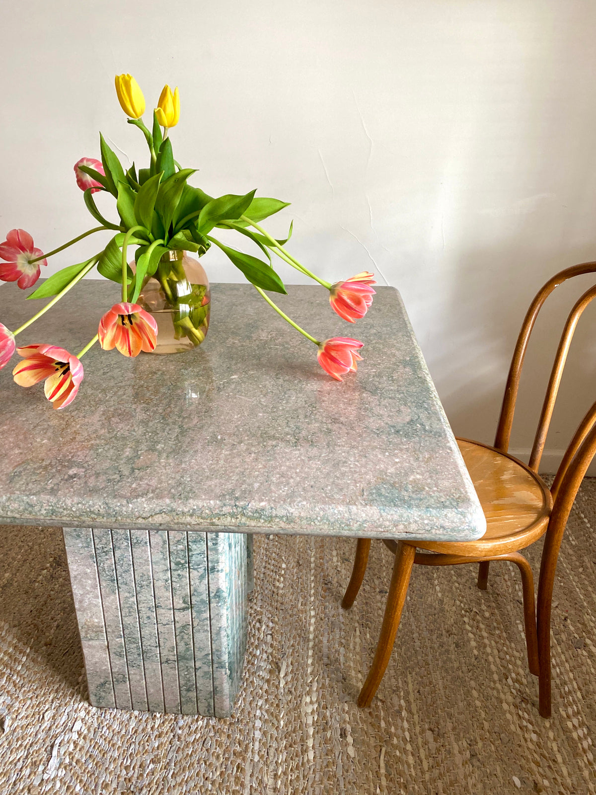 Sage Green Marble Dining Table