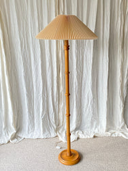 Floor lamp with pleated shade