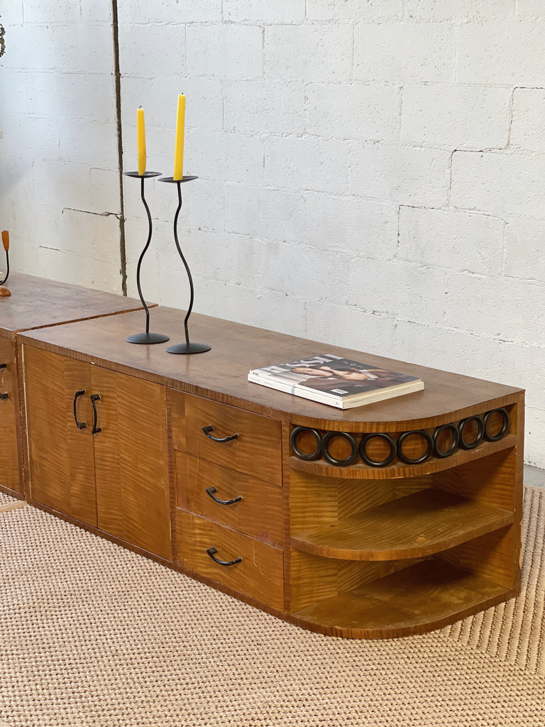 Low Wooden Sideboard