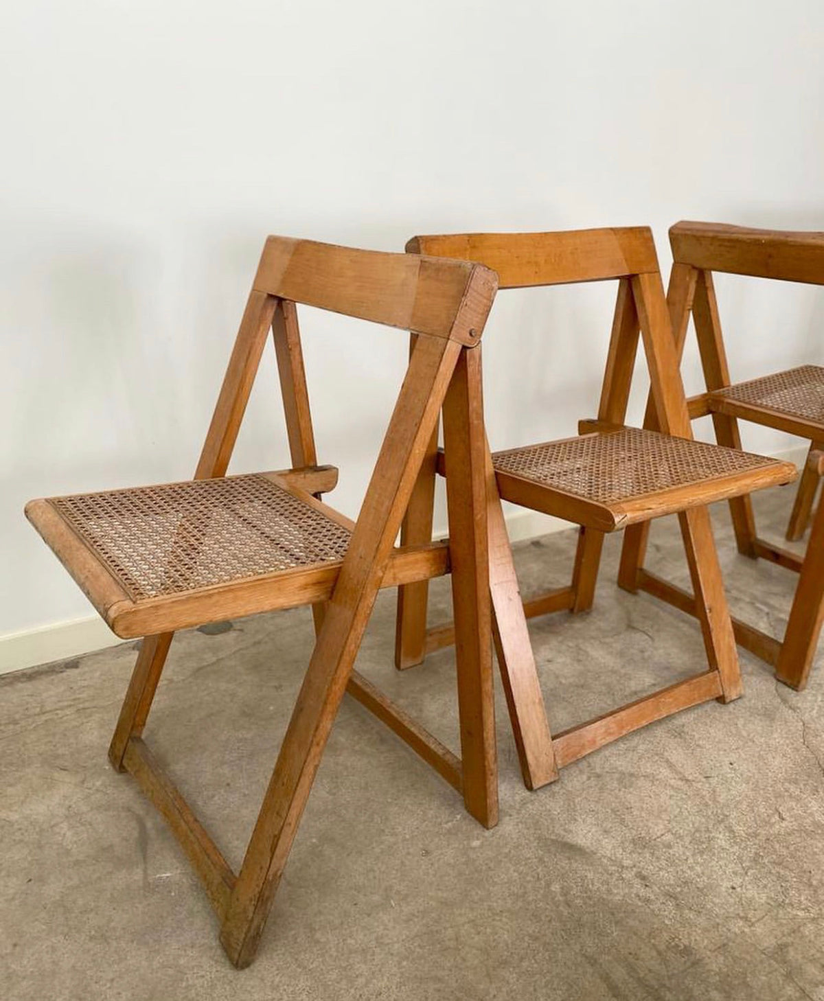 Mid Century Italian Aldo Jacober and Pierangela d'aniello Folding Chairs