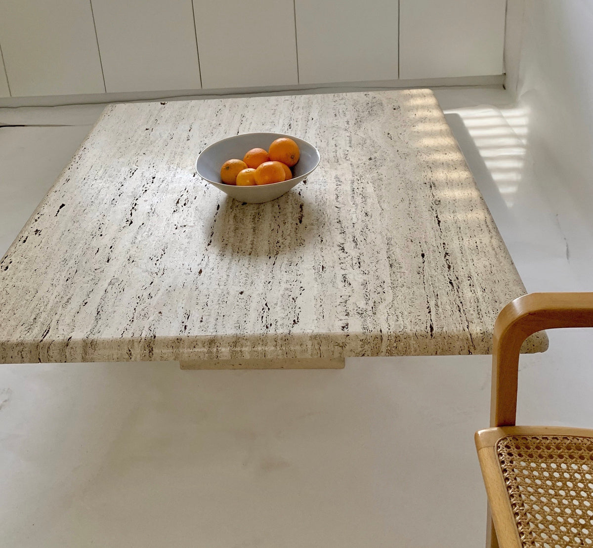 Unfilled Travertine Coffee Table