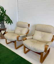 Tessa Leather Sling Armchairs