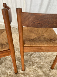 Tasmanian Oak Rush Dining Chairs