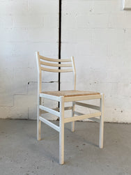 White Woven Rush Chair - Price is per chair