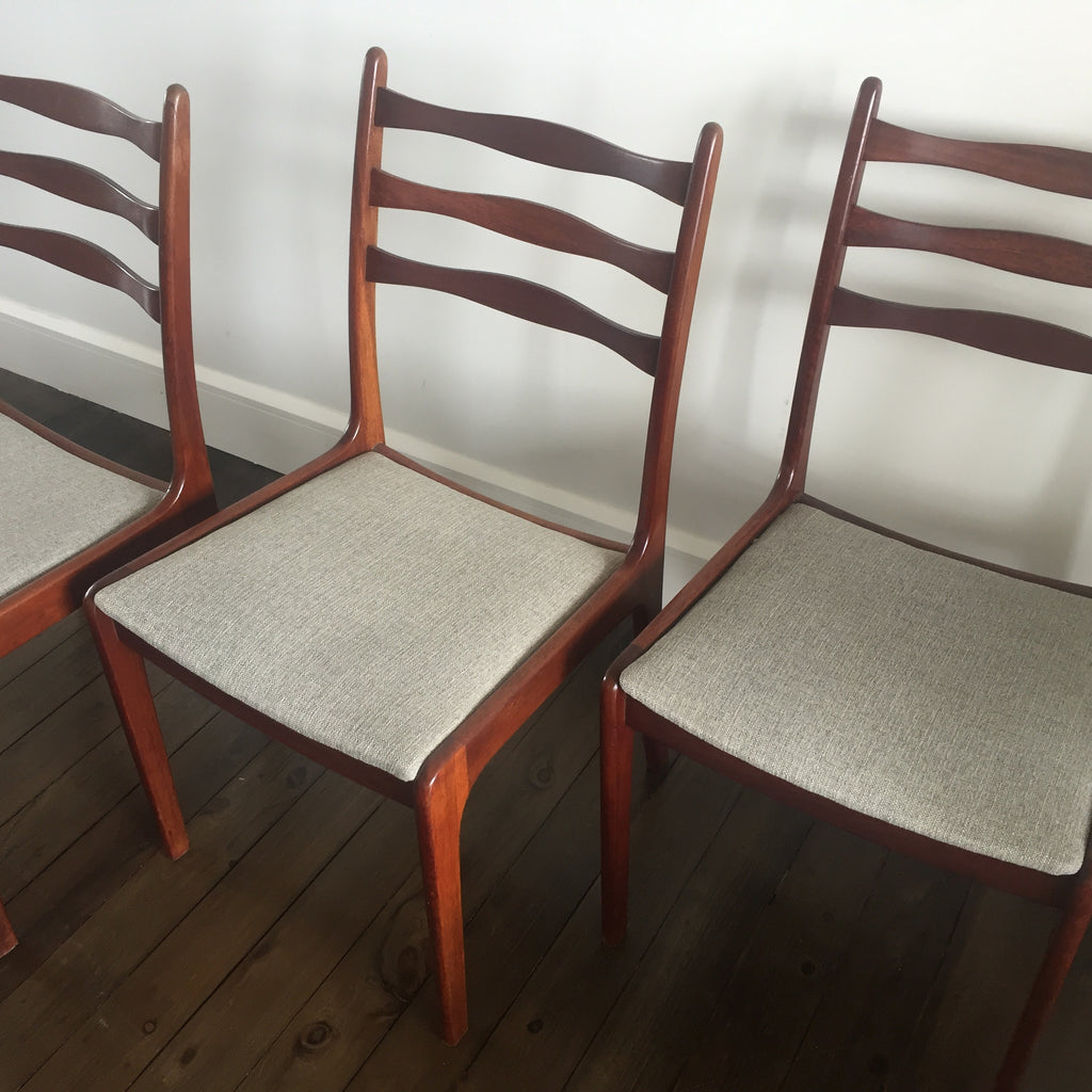 Five Mid Century Danish Dining Chairs