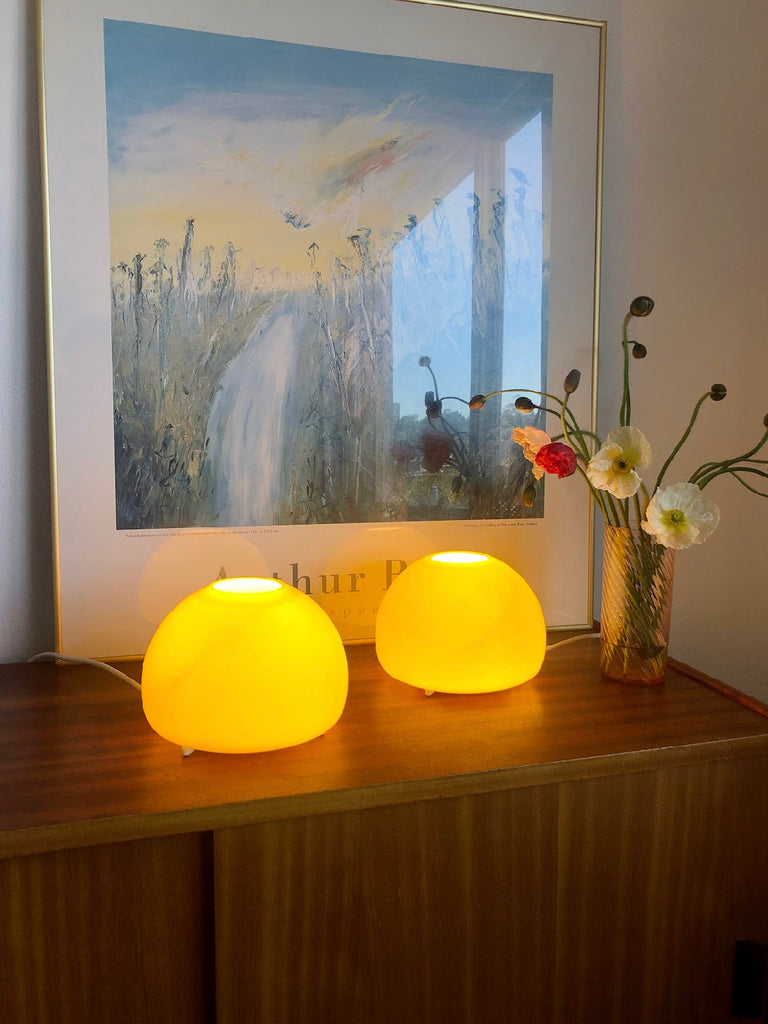 Italian Yellow Glass Lamps