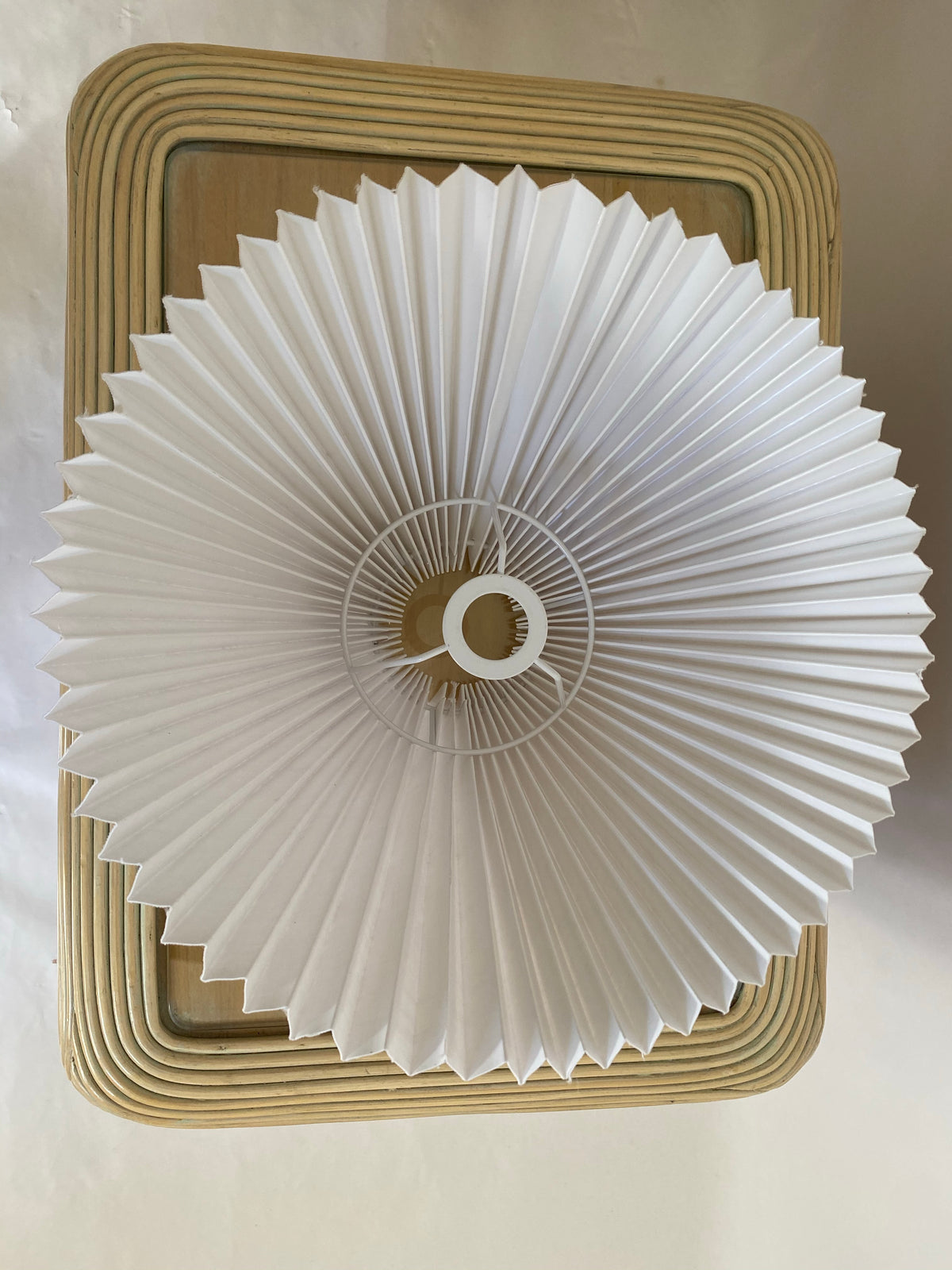Textural Ceramic Pleated Lamp