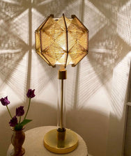 1970s Vintage Tall Geometric Lamp