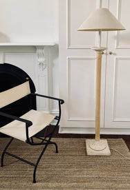 Cane and Stone Floor Lamp