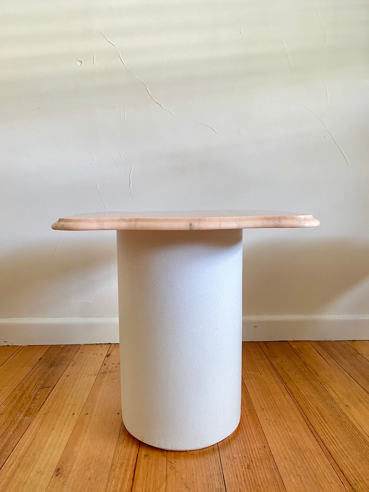 Pink Marble Side Table - Curvy