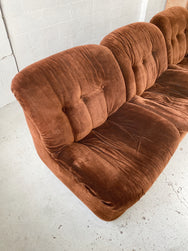 Chubby Brown Velvet Modular Sofa