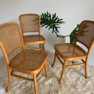 Vintage Rattan Bentwood Chairs