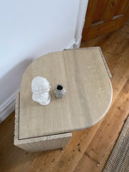 Italian Marble Teardrop Side Table