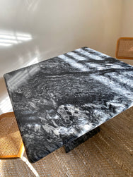 Black & White Marble Dining Table