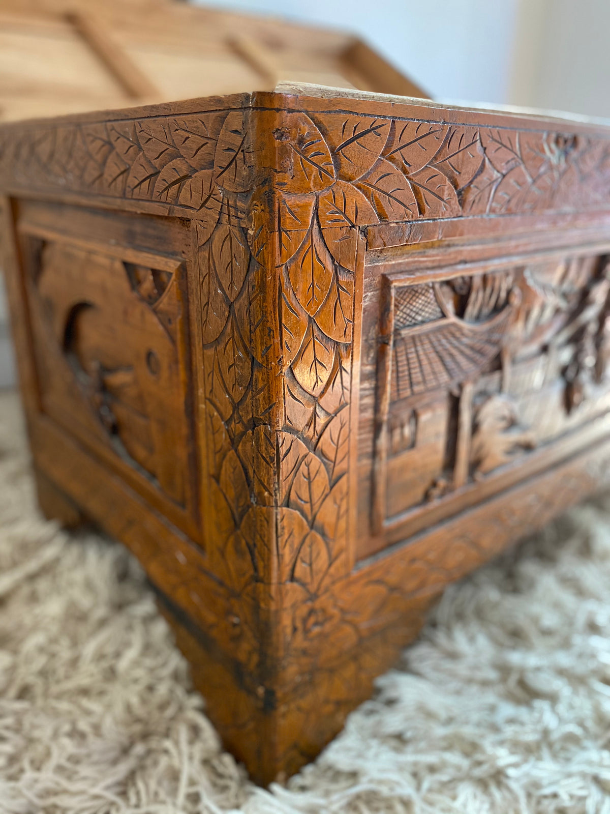 Antique Hand Carved Chest