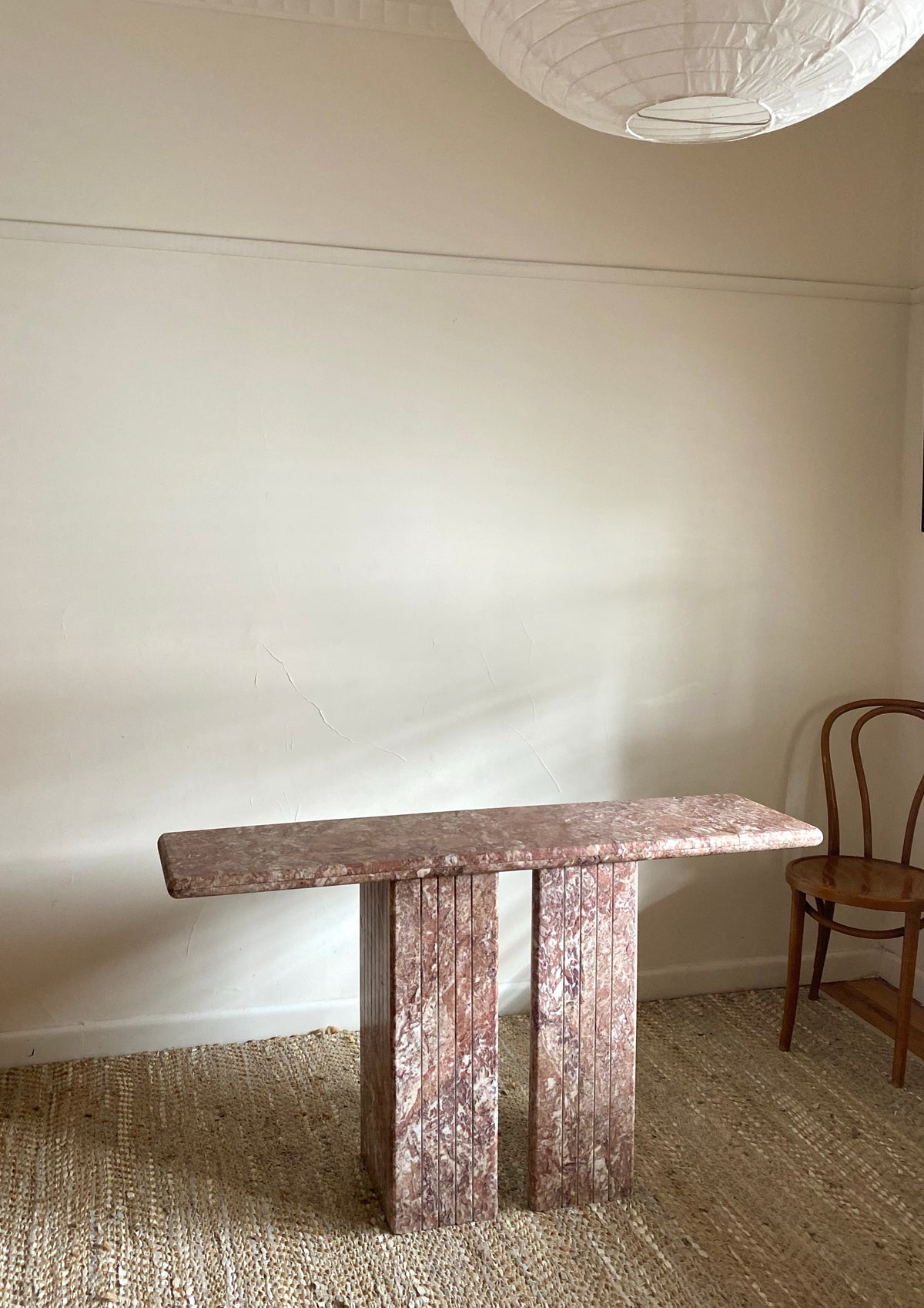 Pink Marble Hall Table / Desk