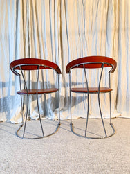 1980s Vintage Italian Arrben Ursula Leather Dining Chairs