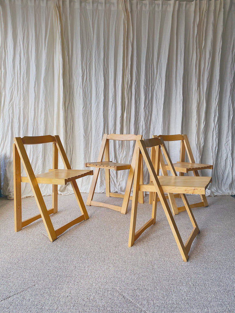 Set of 4 Italian Folding chairs