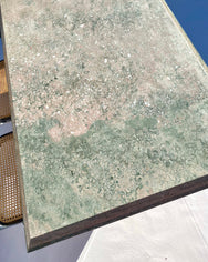 Sage Green & Pink Marble Dining Table