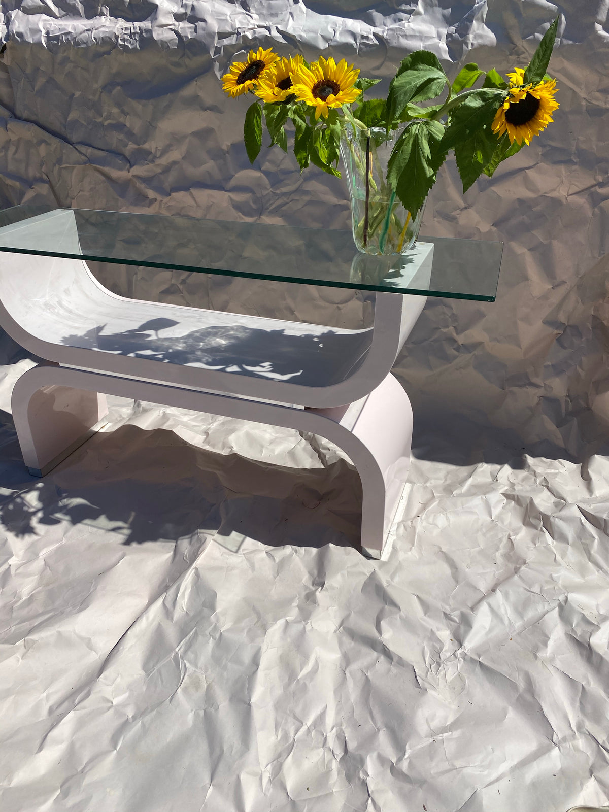 Pink Glossy Hall Table