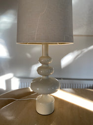 Cream Lamp with Holmegaard Style Base