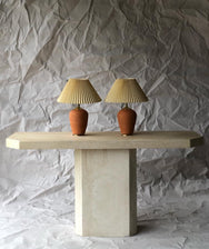 Terracotta Pleated Lamp
