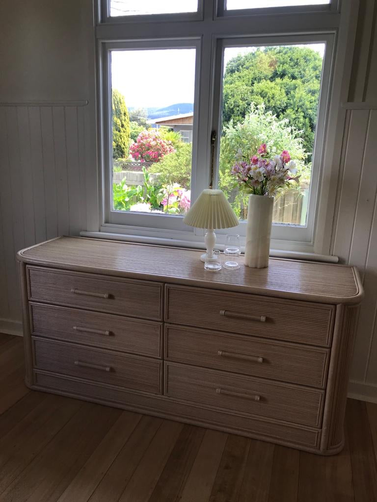 1970s Cane Chest of Drawers
