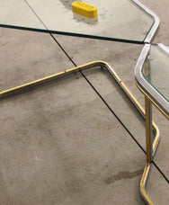 Brass and Chrome Tables